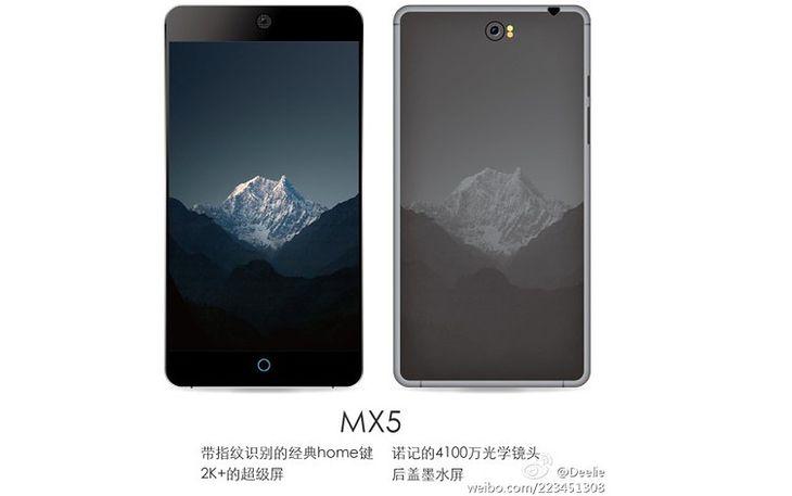 Render mający przedstawiać Meizu MX5