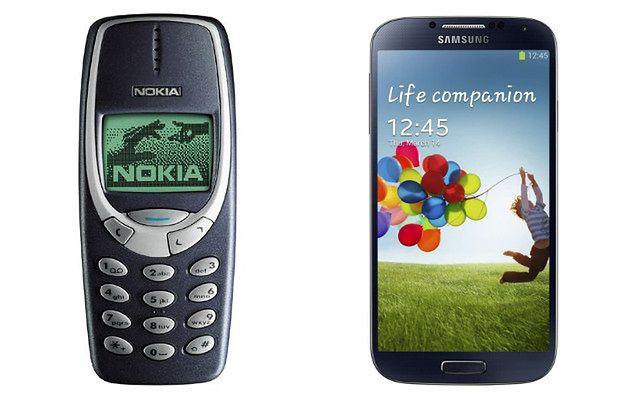 Nokia 3310 i Samsung Galaxy S4