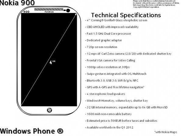 Oto Nokia 900? (fot. Windows Phone News)