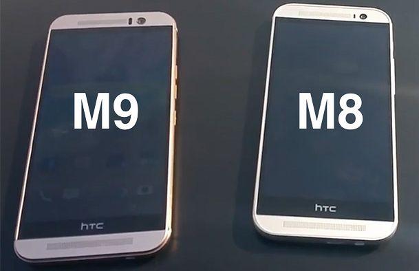 HTC One M9 w towarzystwie One M8