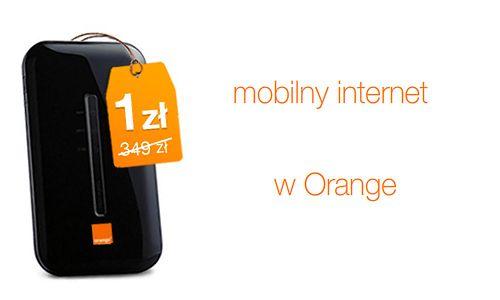 Orange Free - do końca tygodnia modem za 1 zł