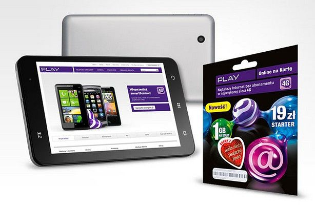 Play Online na Kartę i tablet ZTE Light (fot.: materiały Play)