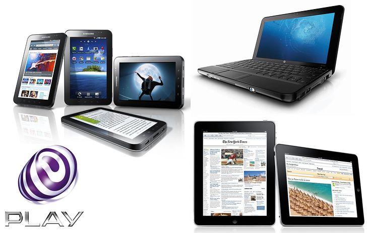 iPad, Galaxy Tab i HP Mini 110 w Play Online Box