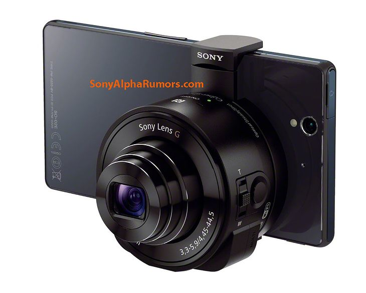 Xperia Z z aparatem bezkorpusowym Sony QX10 (fot. sonyalpharumors)