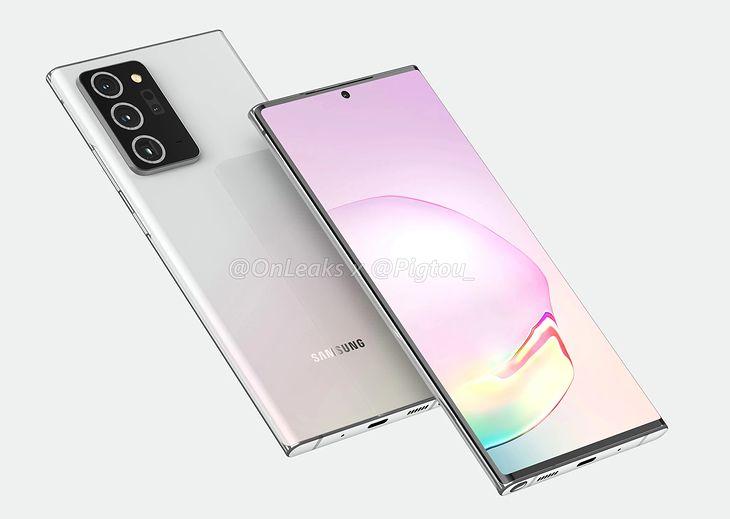 Samsung Galaxy Note 20+ - wizualizacja bazująca na przeciekach