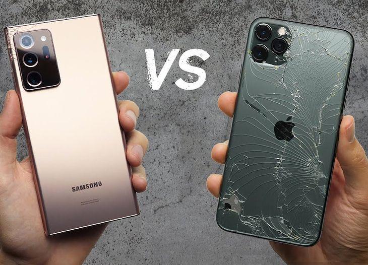Samsung Galaxy Note 20 Ultra okazał się dużo wytrzymalszy niż iPhone 11 Pro Max