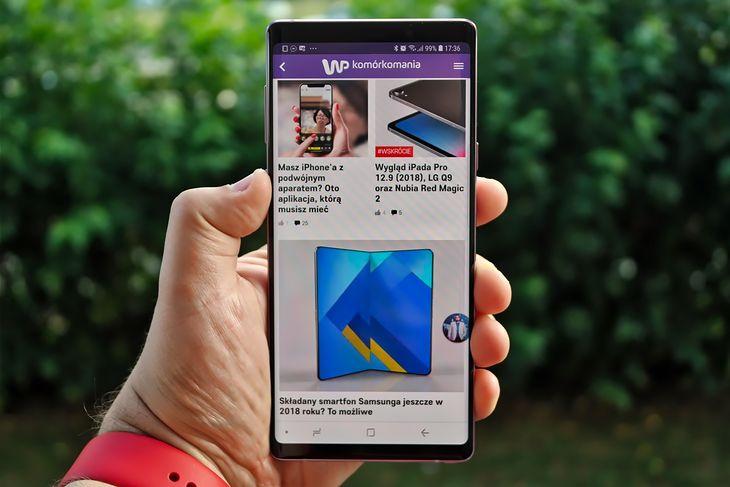 Samsung Galaxy Note 9 ma 6,4-calowy wyświetlacz