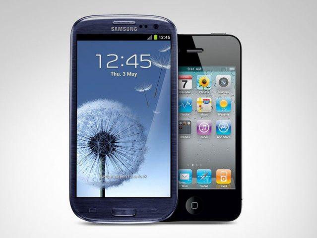 Galaxy S III i iPhone 4S (fot. androidchief)