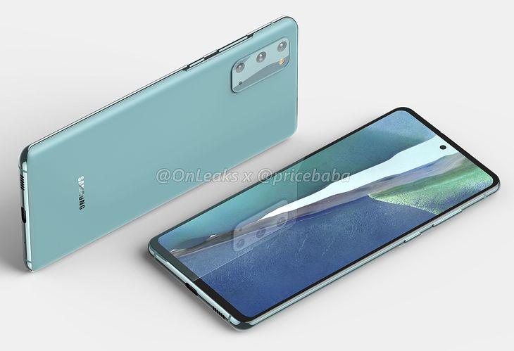 Samsung Galaxy S20 FE - wizualizacja bazująca na przeciekach