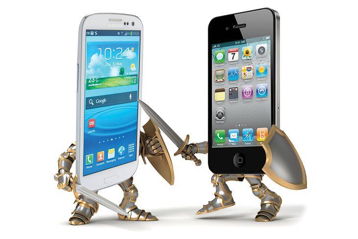 Samsung vs Apple (fot. techreports.info)