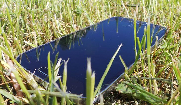Samsung S4 w trawie