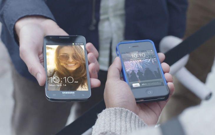 Samsung vs. Apple   fot. youtube.com