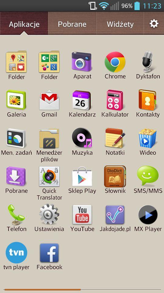 Zrzut ekranu Android