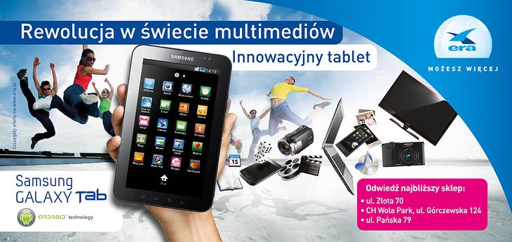 Samsung Galaxy Tab w Erze