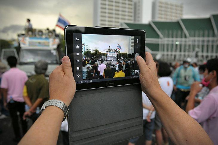 Robienie zdjęć tabletem