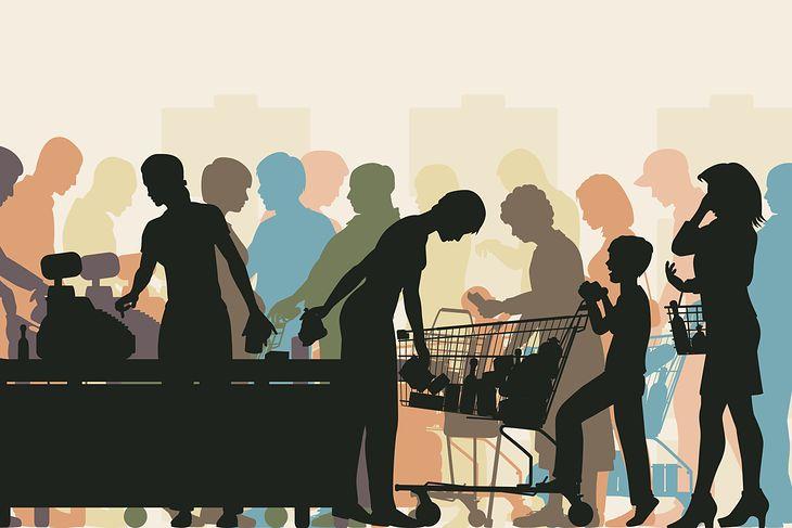 Kolejka w supermarkecie