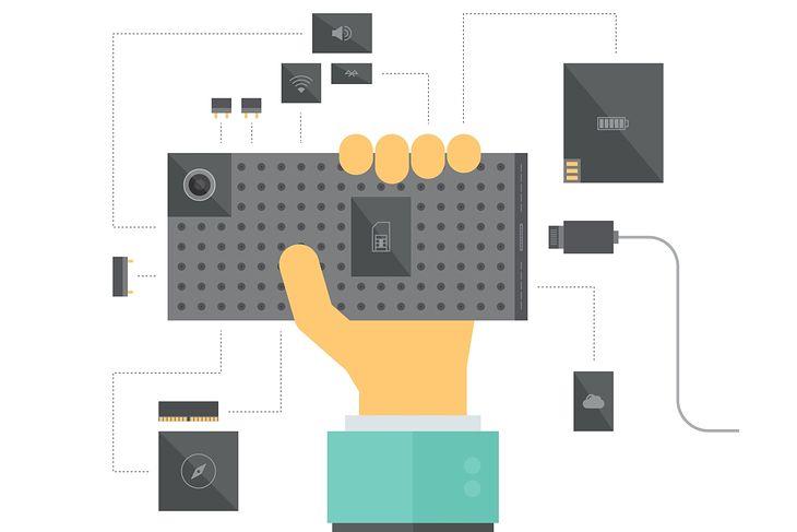 koncept modułowego smartfona