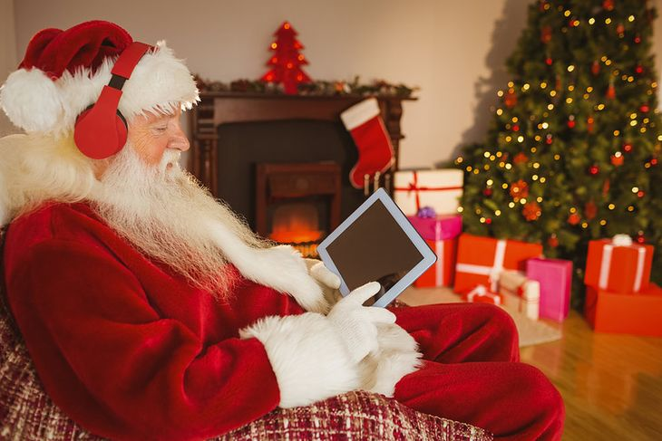 Święty Mikołaj z tabletem