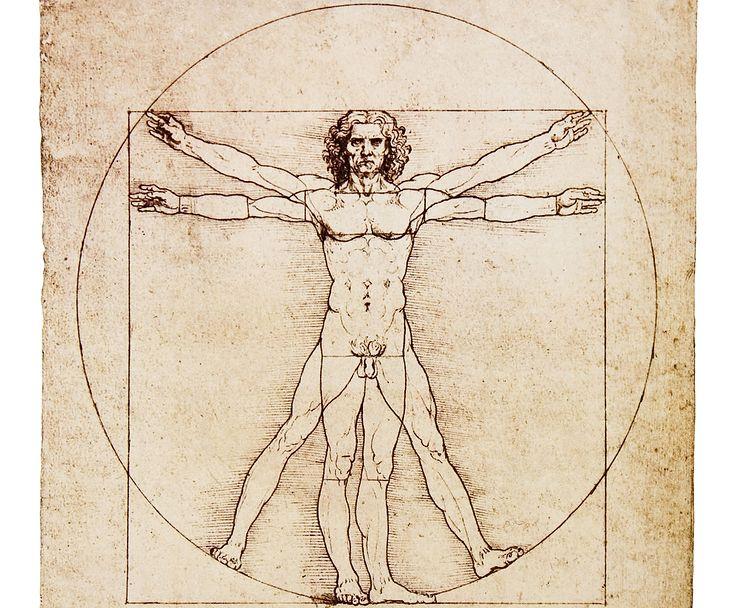 """""""Człowiek witruwiański"""" Leonarda Da Vinci"""