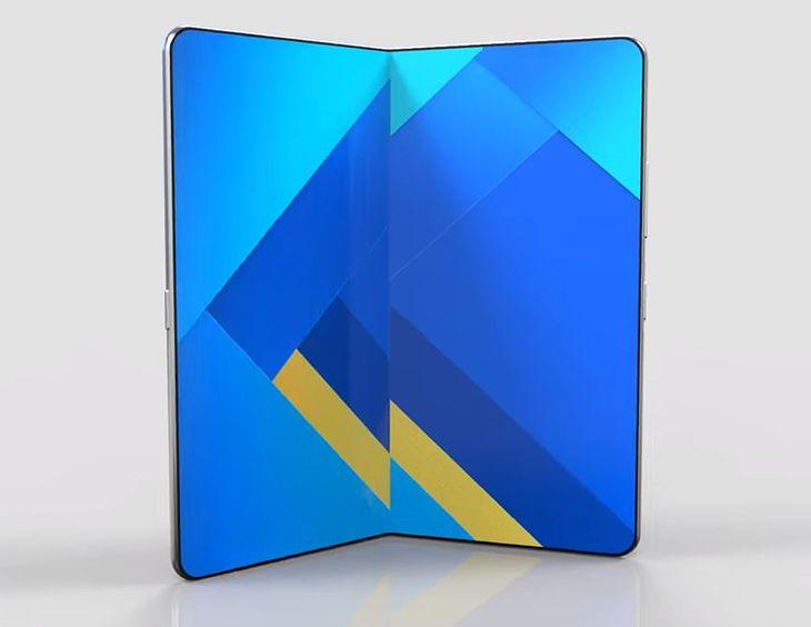 Wizualizacja składanego smartfonu Samsunga