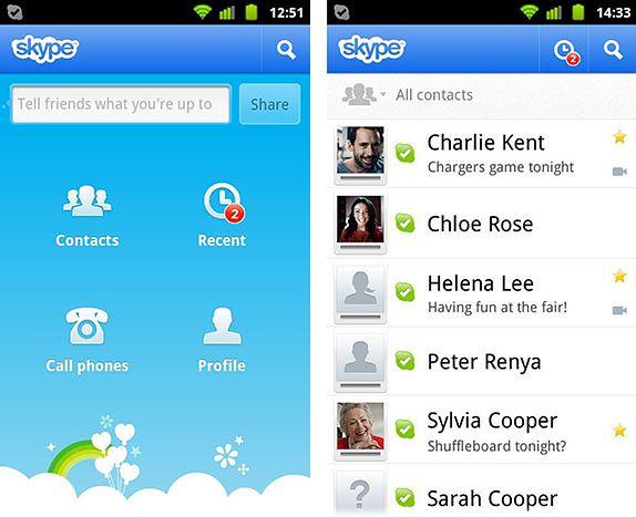 Skype dla Androida