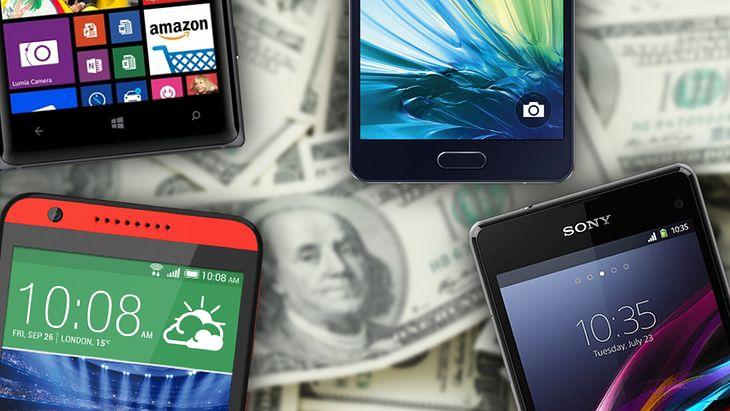 Smartfony na tle Pieniędzy