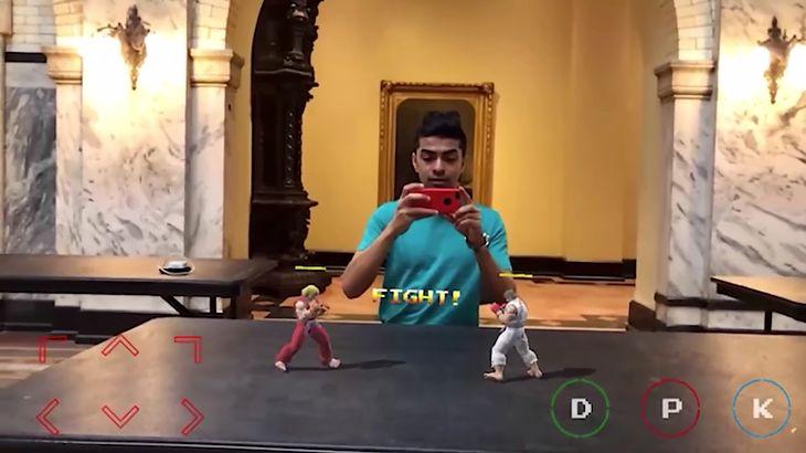 """""""Street Fighter II"""" w rozszerzonej rzeczywistości - koncepcyjna wizualizacja"""