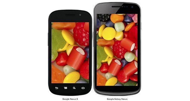 Google Nexus S i Galaxy Nexus | fot. phone-size.com