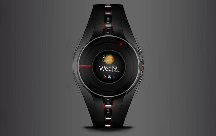 Koncept inteligentnego zegarka przyszłości
