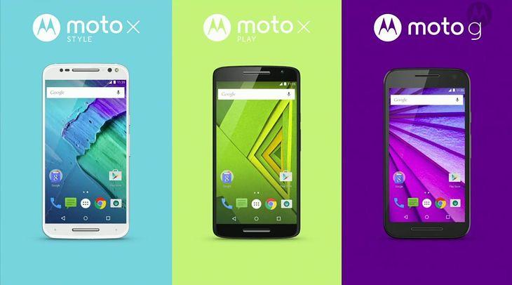 Moto X Style, Moto X Play oraz Moto G