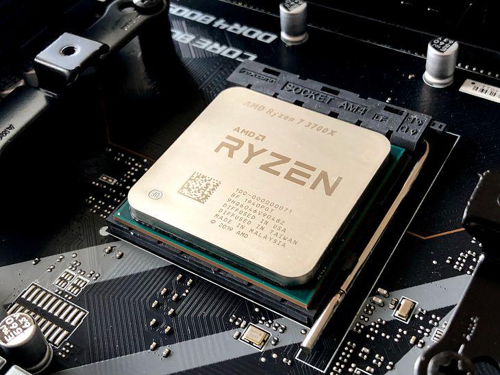 Data Matrix code visible on AMD Ryzen 7 3700X processor