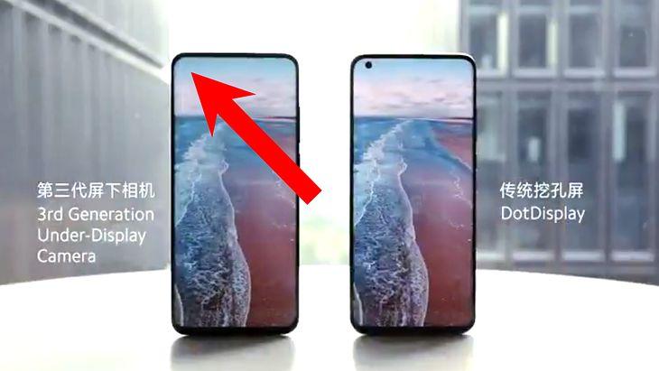 Zmodyfikowany Xiaomi Mi 10 Ultra z aparatem w ekranie