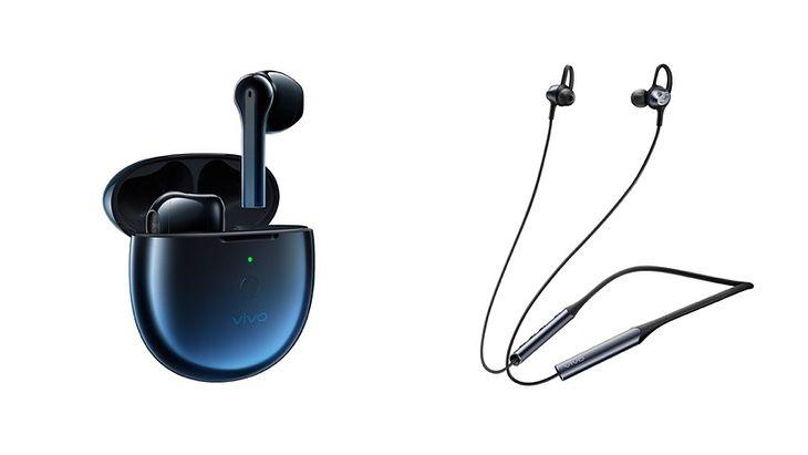 Left TWS Earphone Neo, right Wireless Sport Earphone.