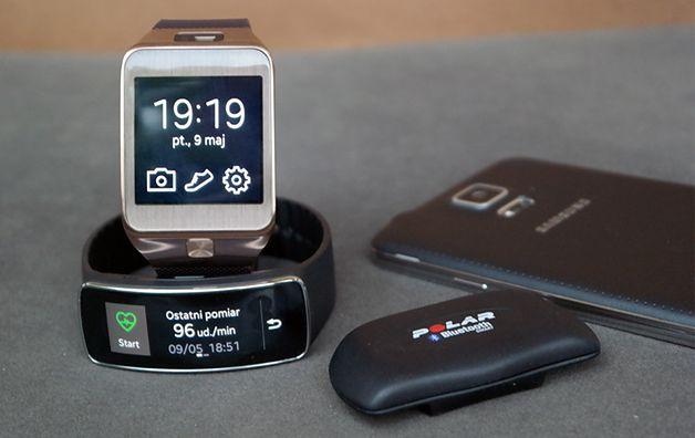 Gear 2, Gear Fit, Polar H7 i Galaxy S5
