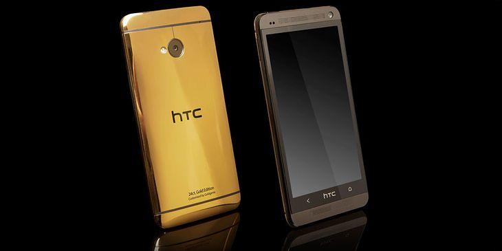 Złoty HTC One (fot. Goldgenie)