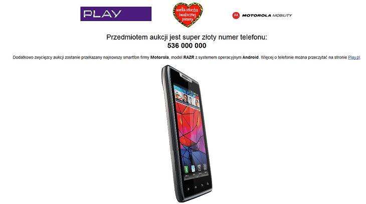 Złoty numer Play i Motorola RAZR na aukcji WOŚP