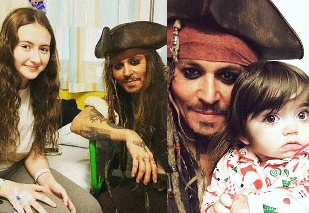 Johnny Depp jako Jack Sparrow odwiedził chore dzieci w szpitalu (ZDJĘCIA)