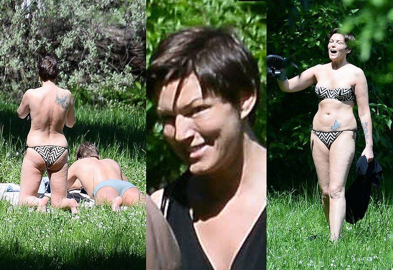2Ilona Felicjańska opala się topless z narzeczonym, który ją zdradził