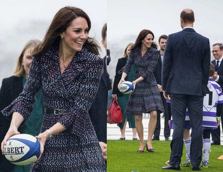 91ffd3f1d8 Kate Middleton gra w rugby z torebką za 25 tysięcy złotych (ZDJĘCIA ...