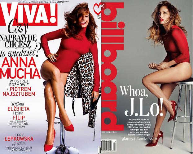 Anna Mucha wzoruje się na Jennifer Lopez? Ich okładki są niemal IDENTYCZNE