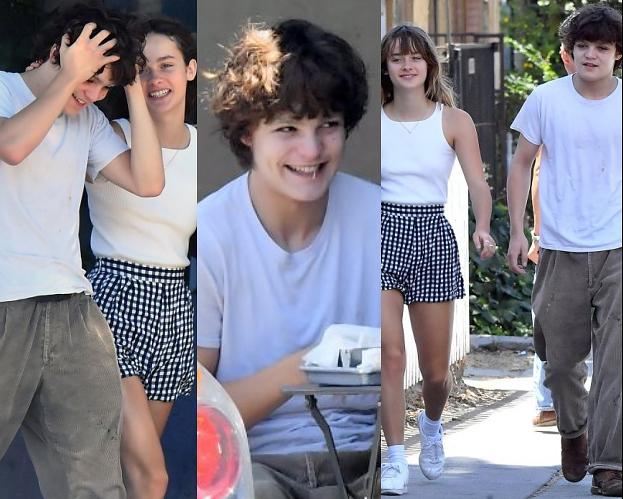 17-letni syn Vanessy Paradis i Johnnyego Deppa uśmiecha się nieśmiało na randce z dziewczyną