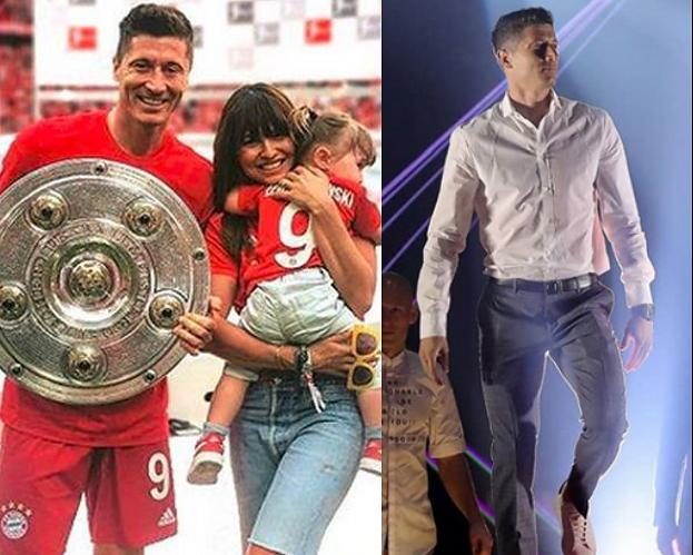 """Robert Lewandowski rapuje Macklemorea na imprezie Bayernu. Ania zachwycona: """"Lewy w swoim żywiole"""""""