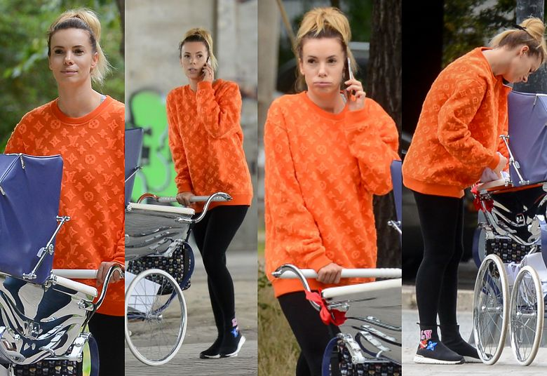 2Nieumalowana Izabela Janachowska w stylizacji Louis Vuitton pcha wózek za 19 TYSIĘCY