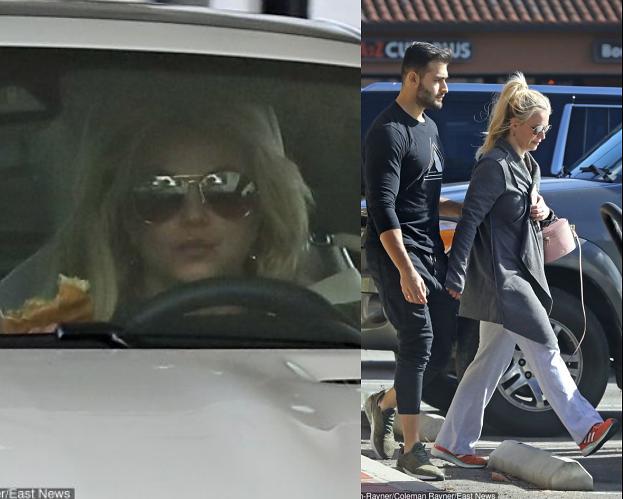 Britney Spears z chłopakiem zajadają się fast foodem (FOTO)