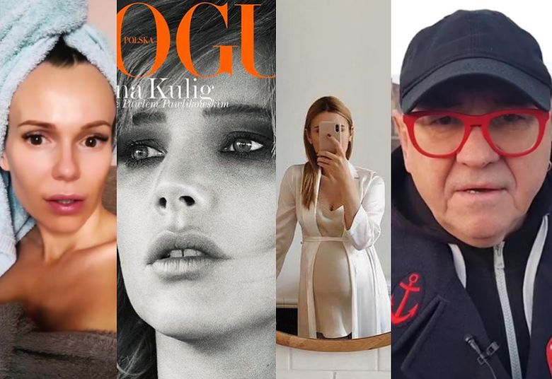 2ZDJĘCIA TYGODNIA: Kasia Tusk pokazała ciążowy brzuszek, Kulig na okładce Vogue'a i smutna Rozenek snuje się po Warszawie