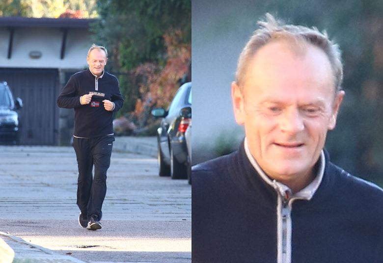 2Uradowany Donald Tusk relaksuje się po komisji Amber Gold