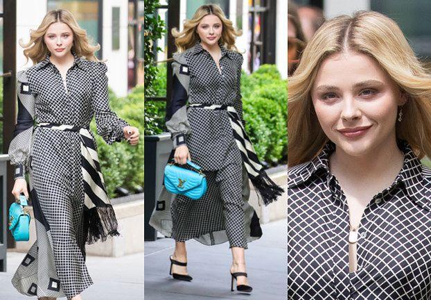 Zadowolona z siebie Chloe Moretz chwali się sukienką w stylu lat 70.