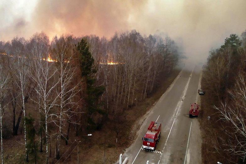 Pożary w Czarnobylu przybierają na sile.