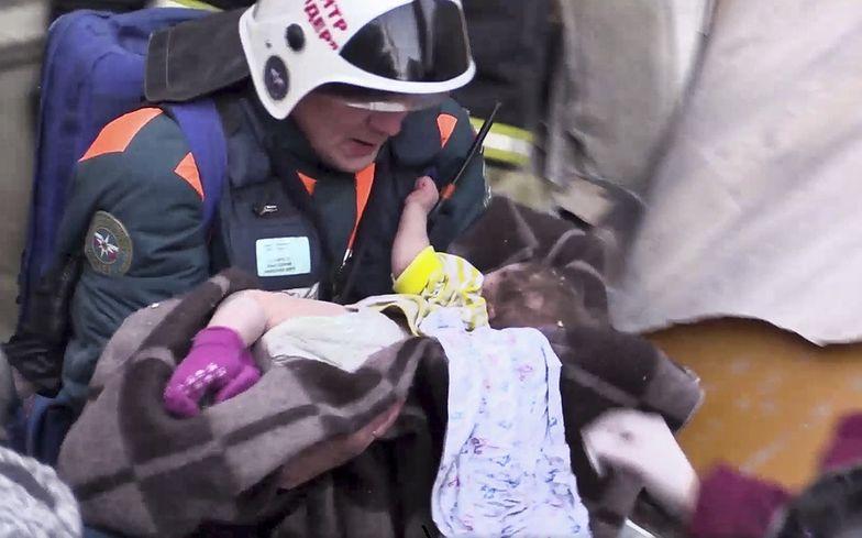 Wybuch gazu w Rosji. W ruinach znaleziono żywe niemowlę
