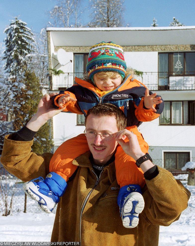 Adam Małysz z córką Karoliną
